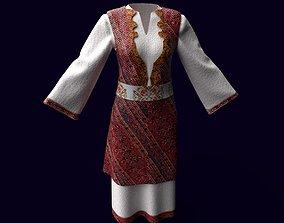 3D asset Slavic Traditional clothes