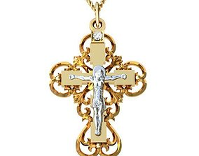 3D print model Cross Jesus jewelry