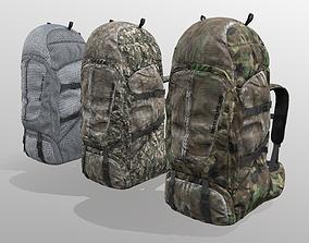 3D asset Backpack for hunting hiking traveling