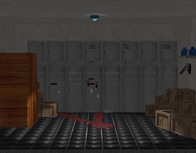 creepy pantry of some school 3D asset