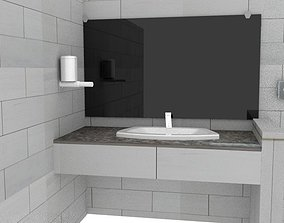 VR / AR ready Washroom assets low poly