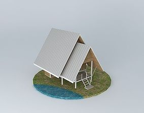 Small vacation cottage house 3D