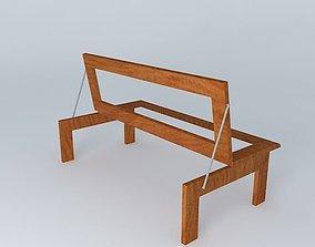 Foldable three seater 3D model
