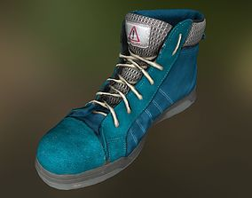 Boot 3D model low poly footwear game-ready