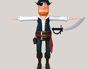 3D model Cartoon Pirate boots