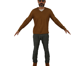 No465 - Cool Glasses Male A Pose 3D model