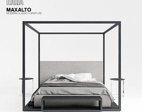 Maxalto Alcova bed 3D model