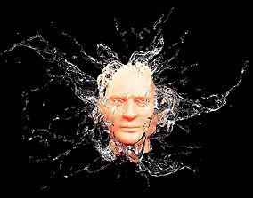Splash Face 3D model