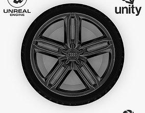 Wheel Steel-Chrome Dark Alloy Rim Audi 19 inch 3D model 1