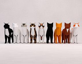 ORIGAMI---Cat 3D model rigged