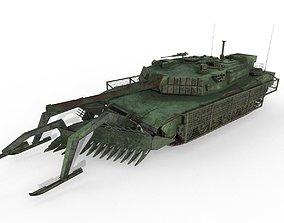 3D model Tank Abrams MinePlow Extra Defense