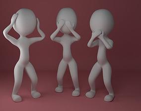3D print model See no evil - puppet