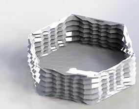 space 3D print model Hexagon Planter