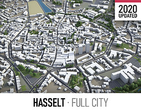 Hasselt - city and surroundings 3D model