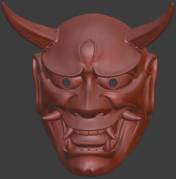 Hannya mask 3D print model 3D print model