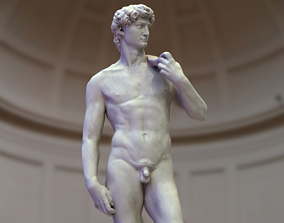 David - Michelangelo - Low Poly 3D model