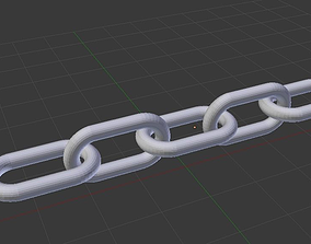 simple chain 3D model
