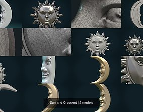 3D model Sun and Crescent