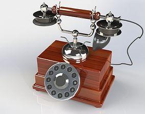 Retro style telephone 3D