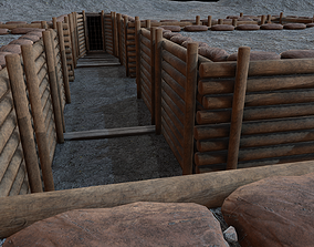 3D asset Modular Military Trenches