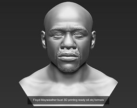Famous Boxers busts for 3D printing Tyson Mayweather
