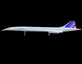3D model France Concorde Airliner