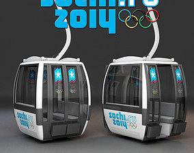 3D Sochi Cableway Car