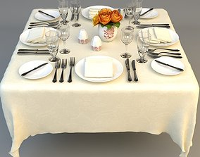 3D model Dining Table Place Settings