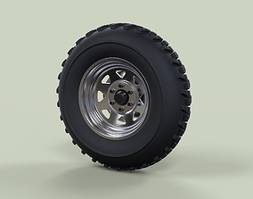 3D model Front wheel for Dune Buggy 2
