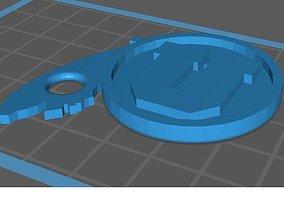 3D printable model University of Utah Keyfob