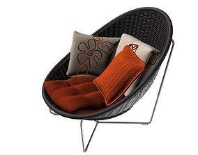 Rattan Chair 3D asset