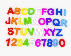 3D model Magnetic Letters