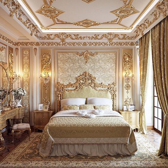 Golden classic bedroom II