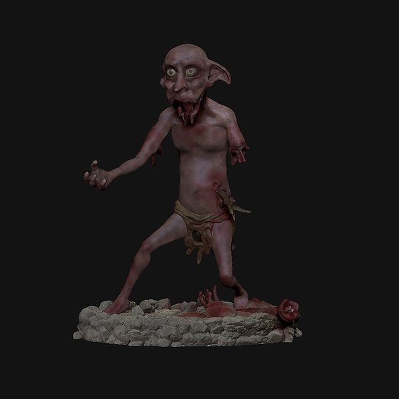 Dobby Zombie for 3dPrint