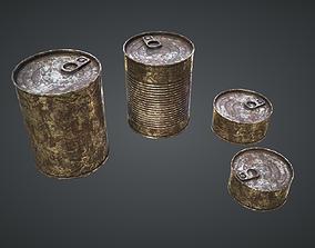 Cans Rust 3D asset