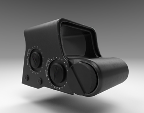 Holographic Sight - Scope - Weapon Attachment - 3D model