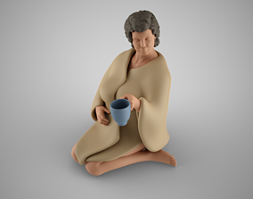 Girl in Blanket 3D printable model