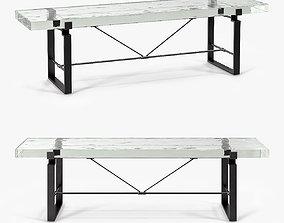 3D asset Holly Hunt Carpenters Bench