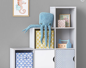 Toys and furniture set 57 3D cabinet