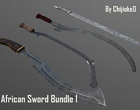 3D model African Sword Bundle 1
