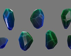 sand 3D asset low-poly Crystal