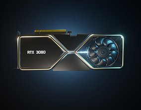 Nvidia rtx 3080 graphics card 3D