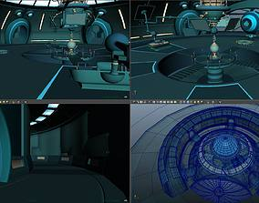 cartoon Inside the ship airship ufo 3D model