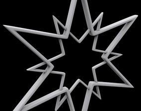 3D printable model Hollow star ornament