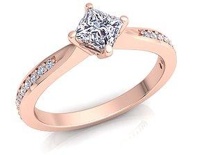 Fancy Solitaire Diamond 3D printable model 1