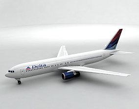 Boeing 767-300 Airliner - Delta Airlines 3D model