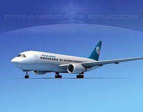 3D model Boeing 767-200ER Finnair