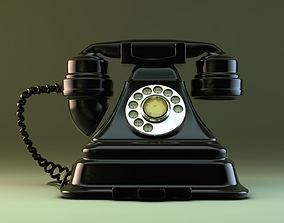 3D Old Retro Phone