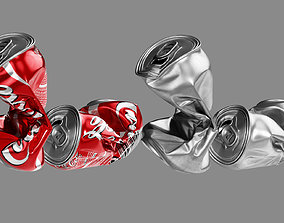 Crushed Soda Can 04 3D