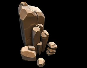 stone gameart 3D asset game-ready
